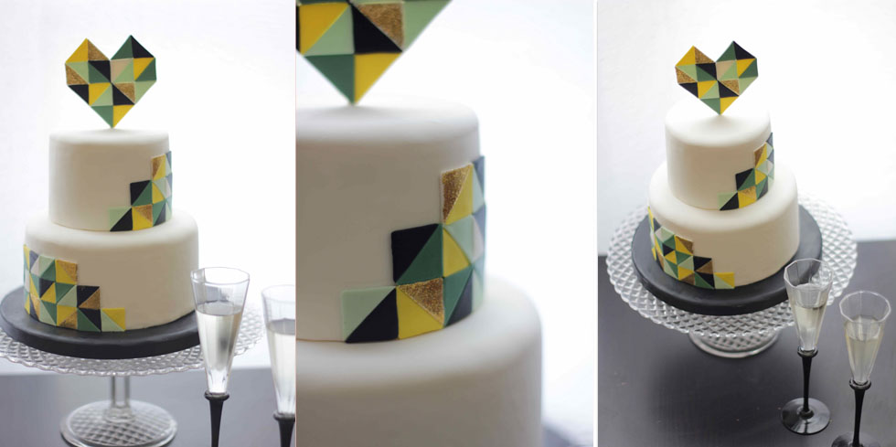 wedding cake triangle